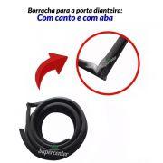 Kit Borracha Porta Canaleta Quebra Vento Parabrisa Belina 2