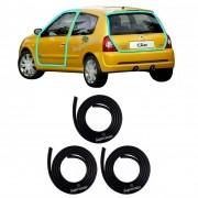 Kit Borracha Porta Dianteira Mala Renault Clio 2 Portas