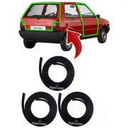 Kit Borracha Porta E Porta Mala Fiat Uno 1984 À 2013 Prêmio