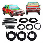 Kit Borracha Porta Parabrisa Canaleta Chevette Hatch 73 A 82