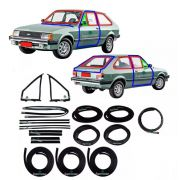 Kit Borracha Porta Parabrisa Canaleta Chevette Hatch 83 A 84
