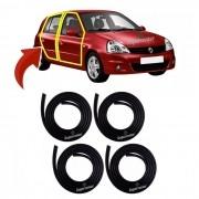 Kit Borracha Porta Renault Clio Hatch Sedan 4 Portas