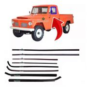 Kit Canaleta Pestana Borracha Vidro F-75 F75 Pick Up Willys