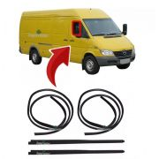 Kit Canaleta Pestana Interna Vidro Porta Mercedes Sprinter