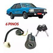 Kit Cilindro Comutador Ignição Corcel Belina 2 Del Rey 1982 A 1984