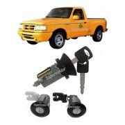 Kit Cilindro Porta E Ignição Partida Ford Ranger 1998 A 2012