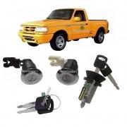 Kit Cilindro Porta Ignição Ford Ranger 1998 A 2012 Polido