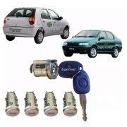 Kit Cilindro Porta Ignição Mala Combustíve Palio Siena 1996 A 2007