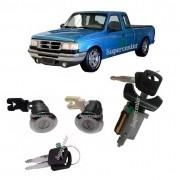 Kit Cilindro Porta Ignição Partida Chave Ford Ranger 94 a 97
