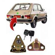 Kit Fechadura Chave Batente Porta Mala Fiat 147 1976 A 1987