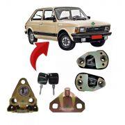 Kit Fechadura Com Chave Batente Porta Mala E Porta Fiat 147
