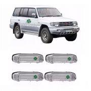 Kit Maçaneta Porta Mitsubishi Pajero 1994 À 1999 Cromada