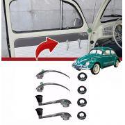 Kit Manivela Maçaneta Interna Roseta Fusca 1959 A 1970 Karmann Ghia