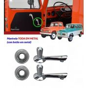 Kit Manivela Vidro Porta + Roseta Ford F75 F-75 Rural Willys