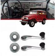 Kit Manivela Vidro + Roseta Toyota Bandeirante 1958 A 1982