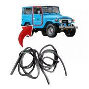 Kit Par Borracha Porta Toyota Bandeirante 1985 À 2001