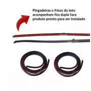 Kit Pingadeira Friso Teto Borracha Parabrisa Gol G3 G4 4 Pts