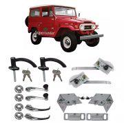 Kit Restauração Maçaneta Fechadura Porta Máquina Vidro Toyota Bandeirante de 1958 até 1981