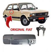Maçaneta Externa Da Porta Com Chave Direita Cromada Fiat 147