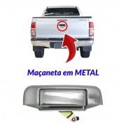 Maçaneta Tampa Traseira Caçamba Toyota Hilux Cromada Metal