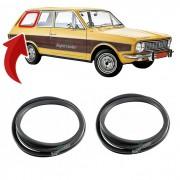 Par Borracha Janela Traseira Fixa Ford Belina 1 1968 A 1977