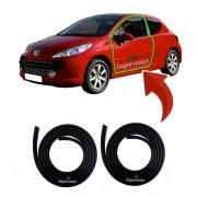 Par Borracha Porta Peugeot 206 207 2 Portas 1ª Linha