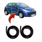 Par Borracha Porta Peugeot 206 207 4 Portas 1ª Linha