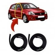 Par Borracha Porta Renault Clio 4 Portas