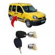 Par Cilindro Miolo Porta Dianteira Com Chave Renault Kangoo