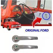 Par Maçaneta Interna Porta F100 F600 62 A 71 Original Ford