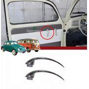 Par Maçaneta Interna Porta Fusca Kombi Até 1977 Karmann Ghia