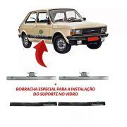 Par Suporte Borracha Vidro Porta Fiat 147