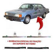 Par Suporte Vidro Borracha Opala 4 Portas E Caravan 68 A 92
