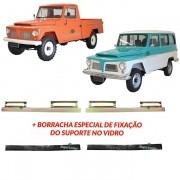 Par Suporte Vidro Porta Borracha Ford Rural F75 F-75 Aero Willys