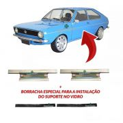 Par Suporte Vidro Porta Borracha Passat 1974 A 1988