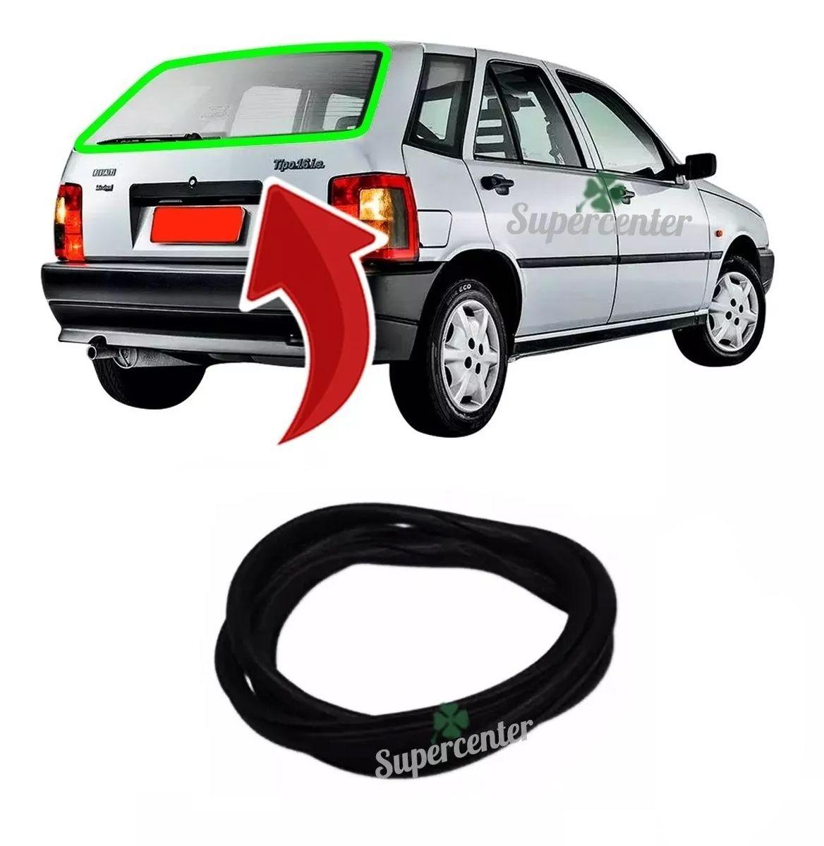 Borracha Arremate Vigia Vidro Traseiro Porta Mala Fiat Tipo