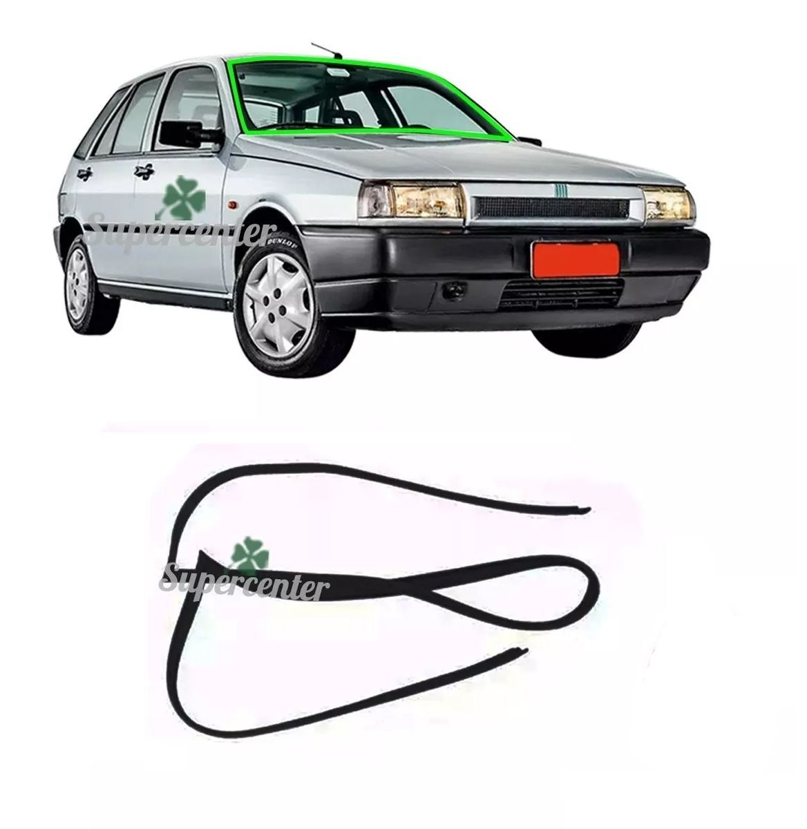 Borracha Externa Parabrisa Fiat Tipo 1993 Até 1997
