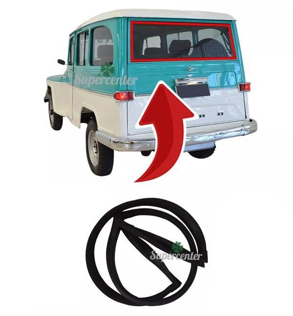 Borracha Vigia Vidro Traseiro Porta Mala Rural Willys