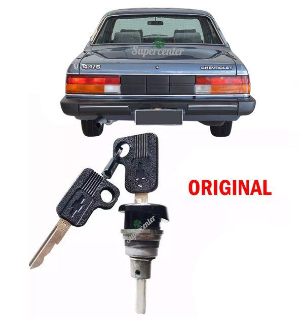 Cilindro Miolo Porta Mala Com Chave Opala 1984 A 1992 Preto