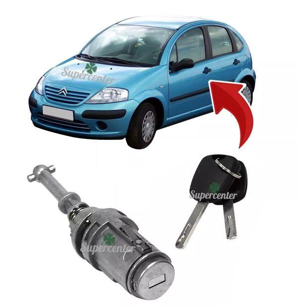 Cilindro Miolo Porta Motorista Com Chave C3 2002 Até 2012