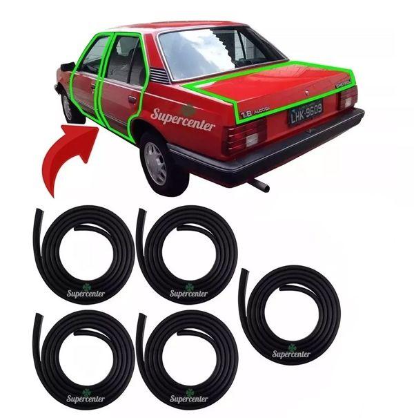 Kit Borracha Porta E Porta Mala Chevrolet Monza 1ª Linha