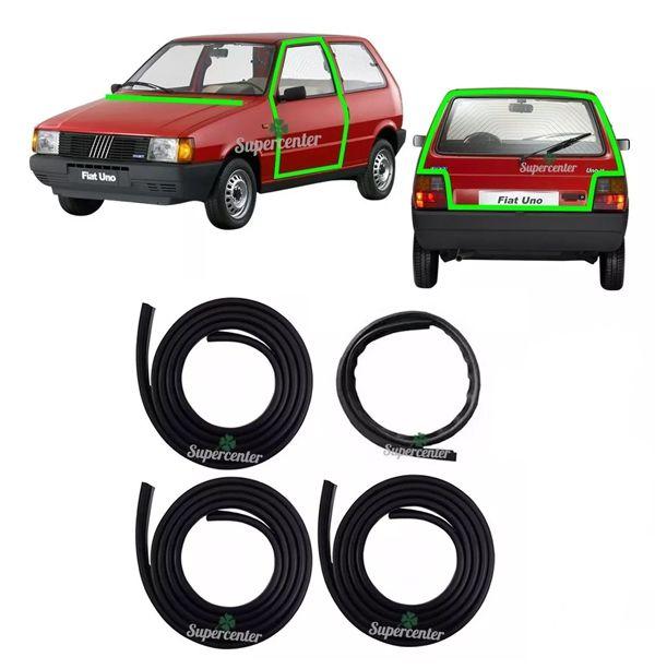 Kit Borracha Porta E Porta Mala Fiat Uno 1984 À 2010 Prêmio