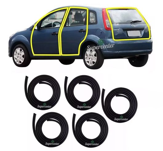 Kit Borracha Porta E Porta Mala Fiesta Hatch Sedan 02 À 2013