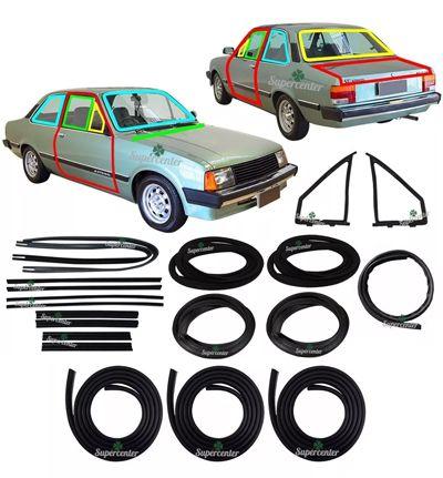 Kit Borracha Porta Parabrisa Canaleta Vento Chevette 1983 84