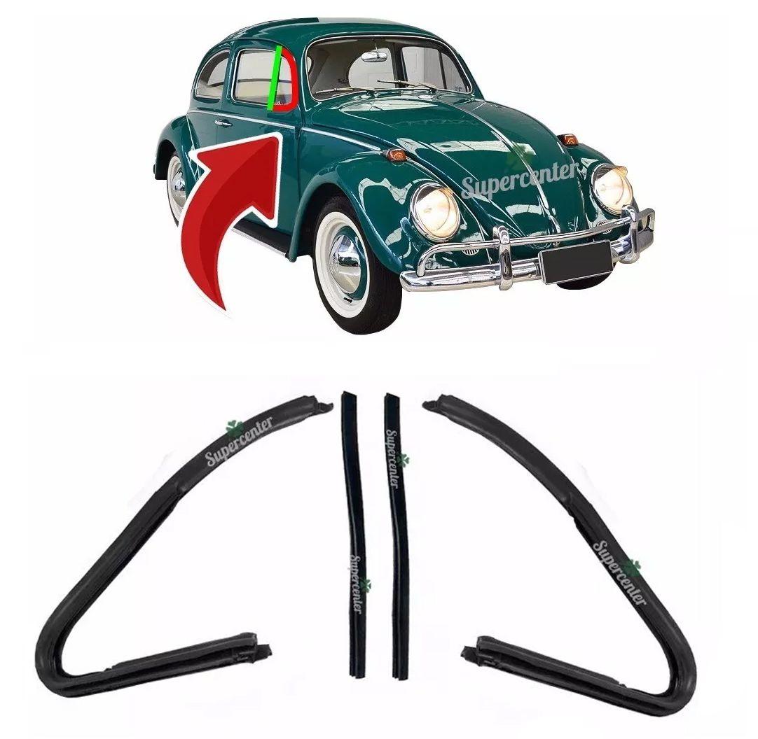 Kit Borracha Quebra Vento Encosto Fusca 1959 Até 1970