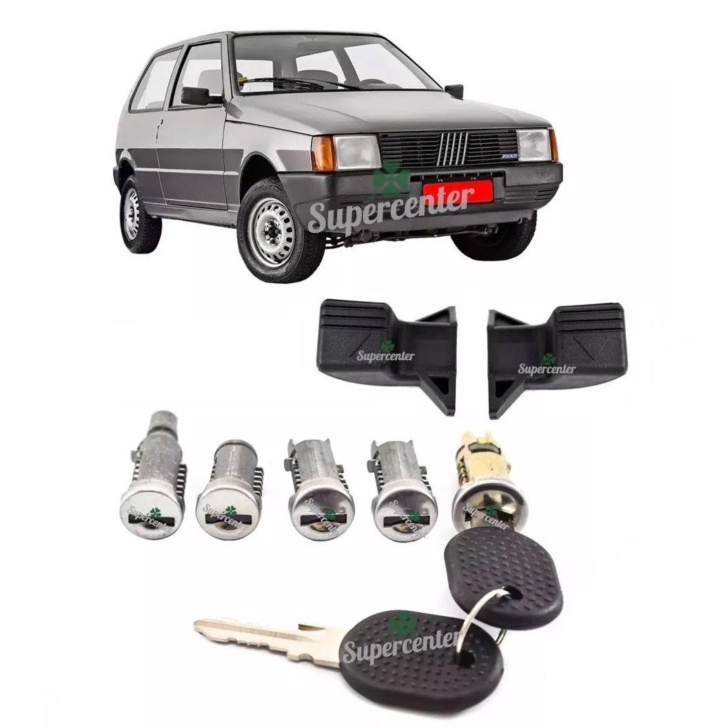 Kit Cilindro Com Chave Porta Ignição Porta Mala Tampa de Combustível Maçaneta Uno Premio Elba 1984 A 1989