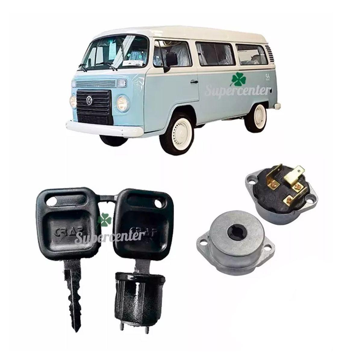 Kit Cilindro Ignição Chave Comutador Kombi De 1977 Até 1980
