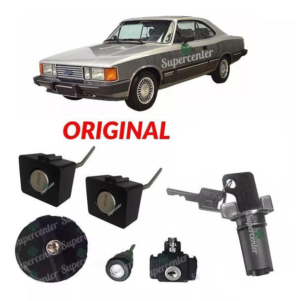 Kit Cilindro Porta Ignição Mala Combustive Chave Opala 85/92