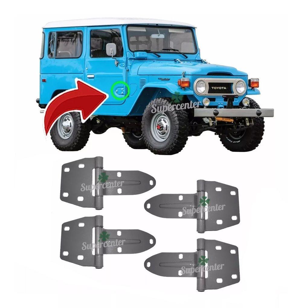 Kit Dobradiça Porta Toyota Bandeirante Jeep 1980 Até 1994
