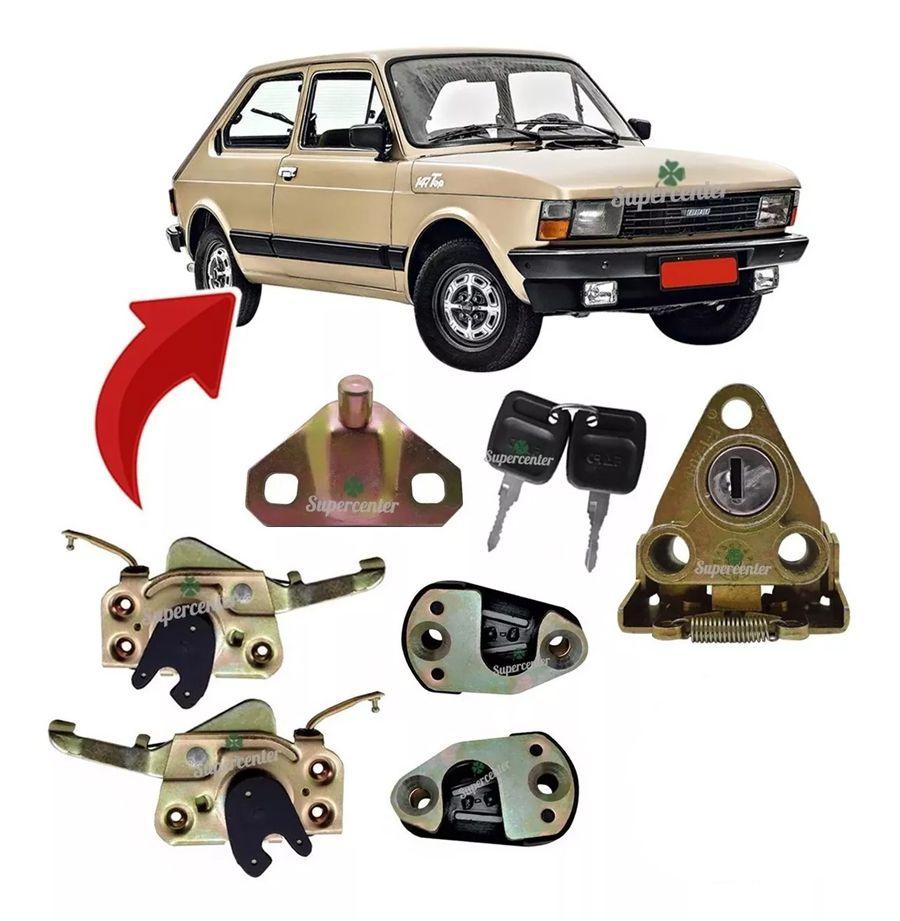Kit Fechadura Chave Batente Porta E Mala Fiat 147